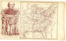 71x016.1 - Union General and Map of Civil War, Civil War Portraits from Winterthur's Magnus Collection
